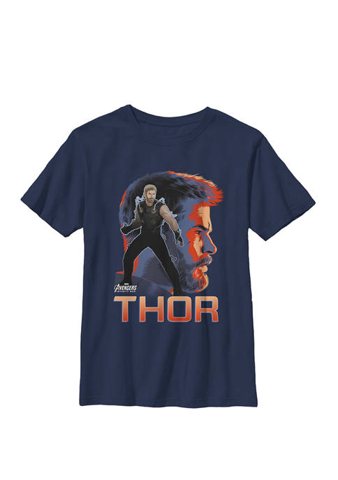 Boys 8-20 Infinity War Thor Big Head Profile