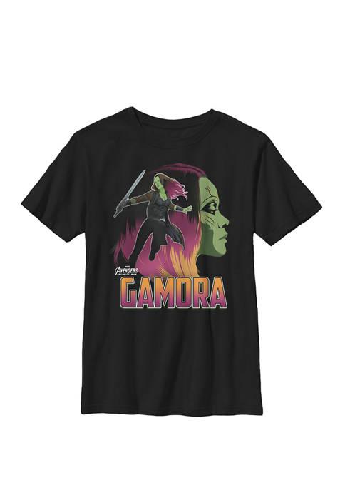 Boys 8-20 Infinity War Gamora Head Profile Graphic