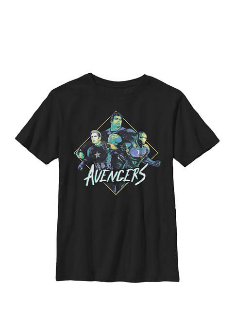 Avengers Endgame Retro Trio Crew Graphic T-Shirt