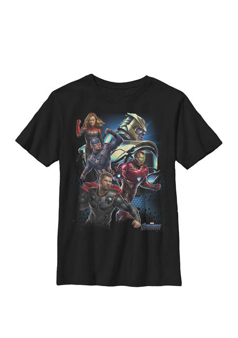 Avengers Endgame Thanos Enemies Poster Crew Graphic T-Shirt