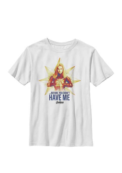 Avengers Endgame Captain Logo Crew Graphic T-Shirt