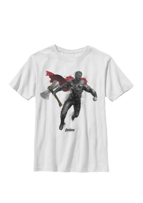 Avengers Endgame Thor Spray Paint Crew Graphic T-Shirt