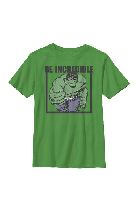 Hulk Be Incredible Adult Crew Graphic T-Shirt