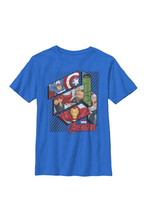 Assemble Avenger Face Panels Crew T-Shirt