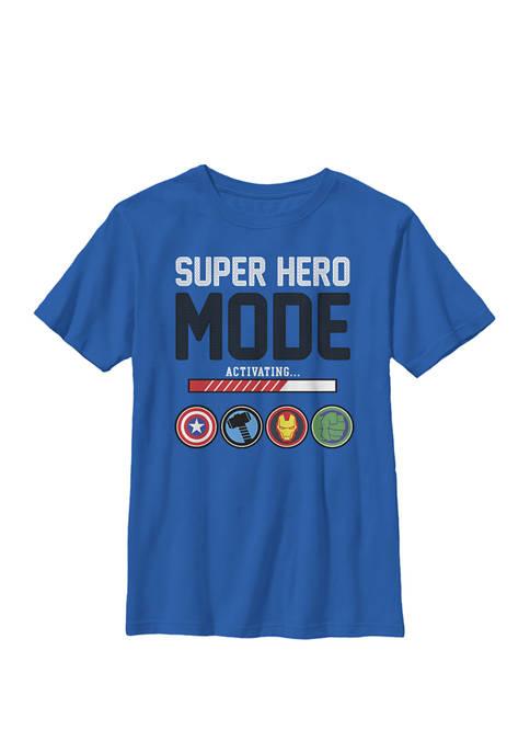 Avengers Assemble Icon Super Hero Mode Crew T-Shirt