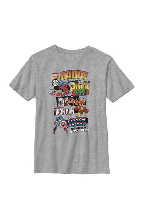 Avengers Fathers Day Retro Comic Crew T-Shirt