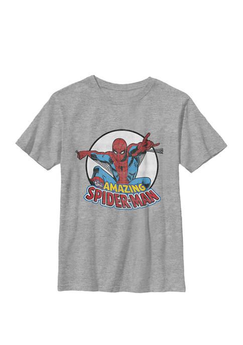 Amazing Spider-Man Retro Vintage Crew T-Shirt