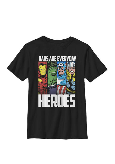 Avengers Fathers Day Everyday Heroes Crew T-Shirt