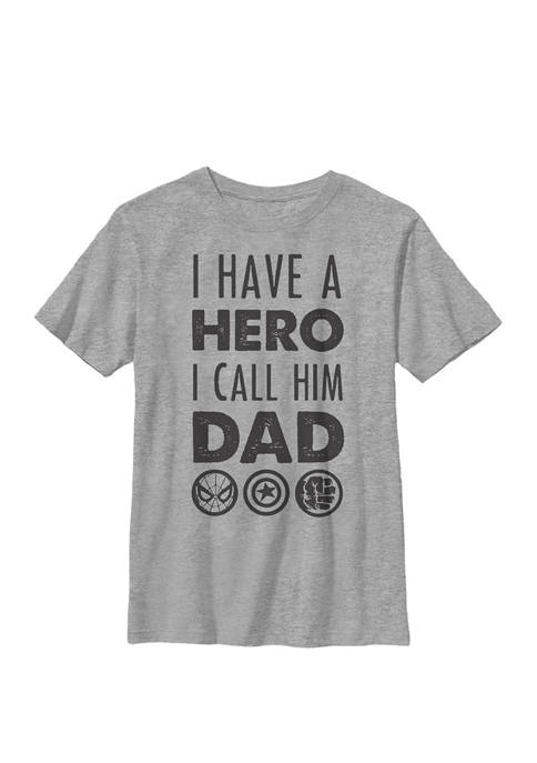 Avengers Fathers Day Hero Dad Crew T-Shirt