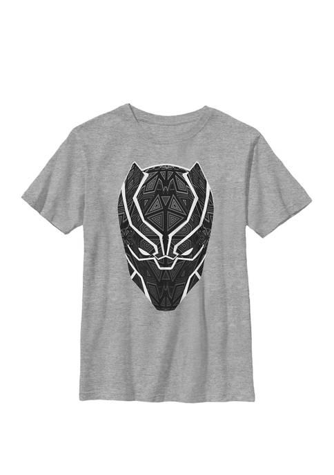 Boys 8-20 Black Panther Geometric Prism Mask Crew
