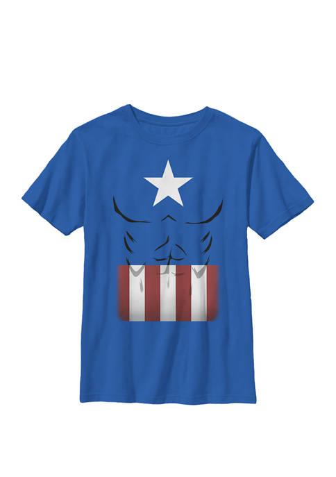 Boys 8-20 Captain America Simple Suit Graphic T-Shirt
