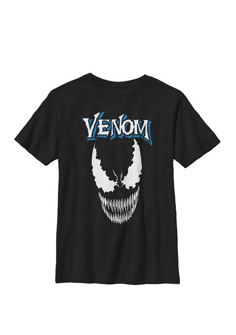 Boys 8-20 Venom Face Close Up Graphic T-Shirt
