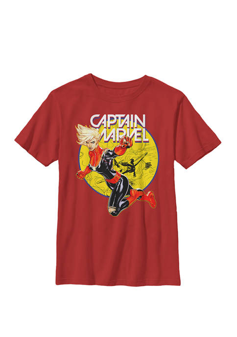Boys 8-20 Captain Earths Mightiest Hero Graphic T-Shirt