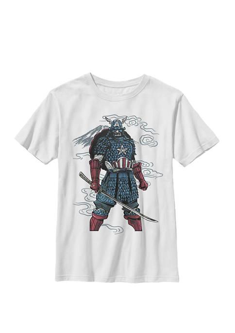 Boys 8-20 Captain America Mountain Samurai Graphic T-Shirt
