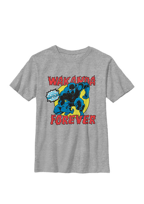 Boys 8-20  Black Panther Vintage Battle Pose Graphic T-Shirt