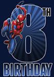 Boys 8-20 Spider-Man Swinging 8th Birthday Graphic T-Shirt