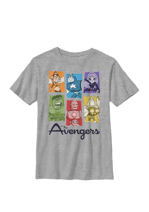 Boys 8-20 The Avengers Retro Pop Colorful Panel