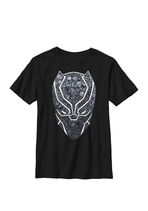 Boys 8-20 Black Panther Mask Build Up Fill