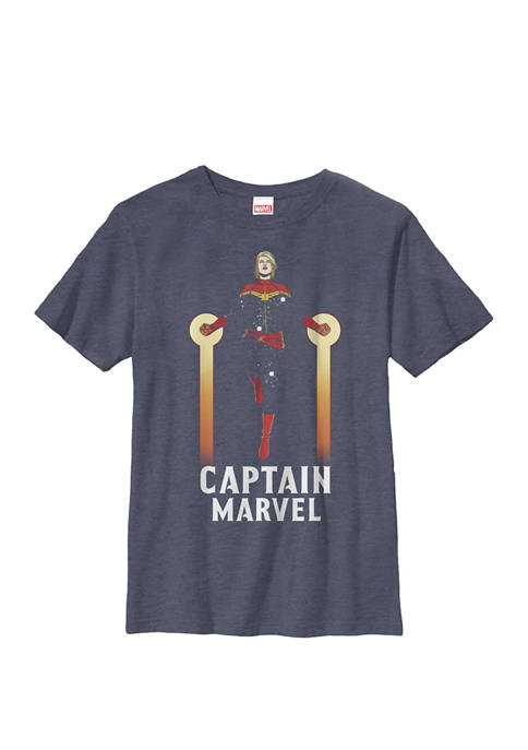 Boys 8-20 Captain Marvel Flying Pose Graphic T-Shirt