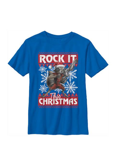 Marvel™ Boys 4-7 Rocket Xmas T-Shirt