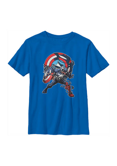 Marvel™ Boys 4-7 Captain Venom with Symbol Top