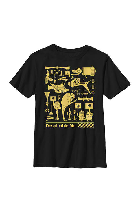 Minions All The Weapons Crew Graphic T-Shirt