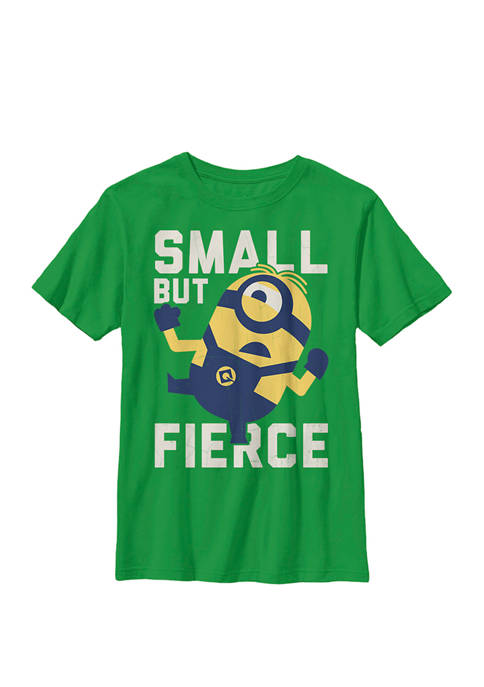 Minions He Is Small But Fierce Crew Graphic