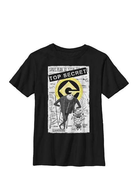 Minions Top Secret Blueprints Crew Graphic T-Shirt