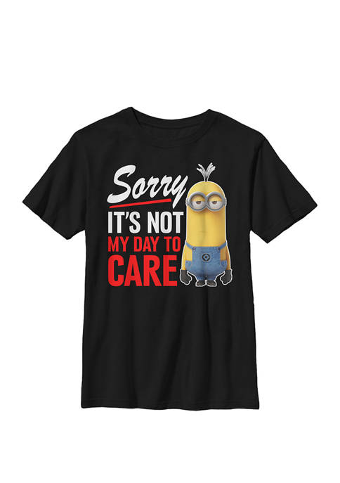 Minions Not My Day Text Crew Graphic T-Shirt