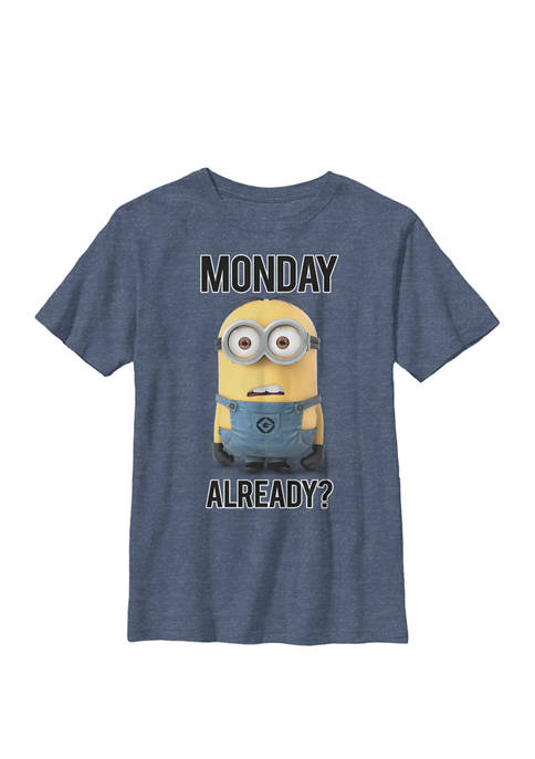 Minions Bob Monday Already Crew Graphic T-Shirt