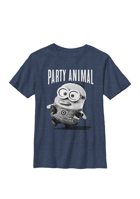 Minions Party Animal Crew Graphic T-Shirt