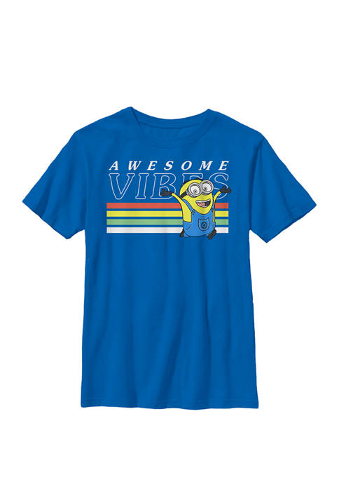 Minions Dave Awesome Vibes Crew Graphic T-Shirt