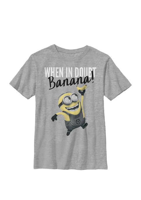 Minions Dave When In Doubt Crew Graphic T-Shirt