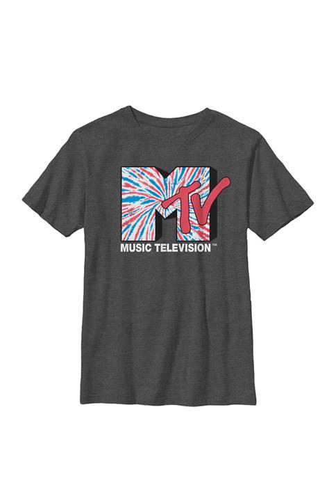 American Tie Dye Logo Crew Graphic T-Shirt