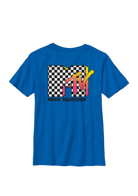 MTV Classic Checkered Logo Crew Graphic T-Shirt