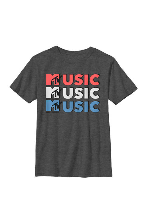 MTV Logo Red White And Blue Music Crew