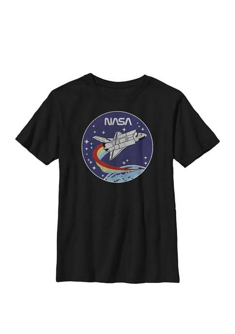 Shuttle Launch Orbit Circle Patch Crew Graphic T-Shirt