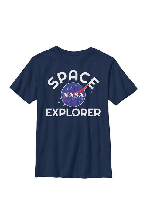 Space Explorer Classic Logo Crew Graphic T-Shirt