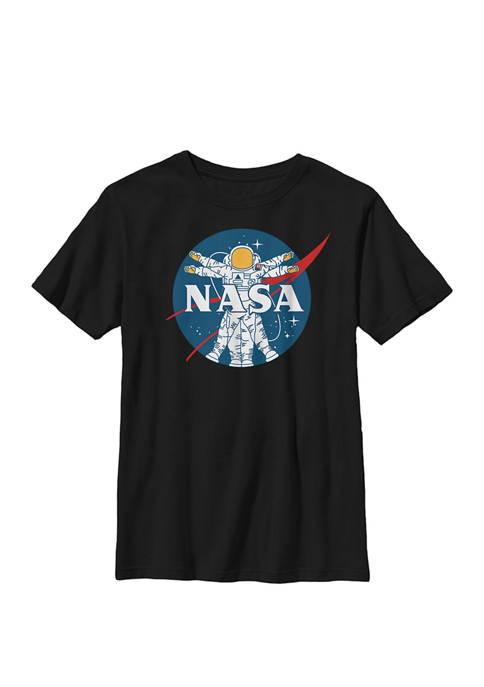NASA Astronaut Vitruvian Man Style Logo Crew Graphic