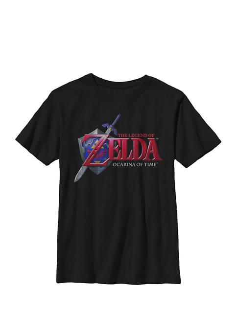 Zelda Ocarina of Time Classic Logo Crew Graphic T-Shirt