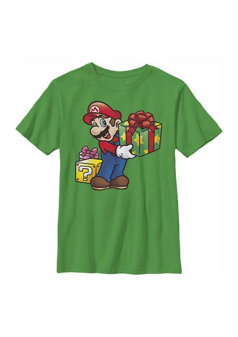 Nintendo Boys 4-7 Mario Gives Graphic Top