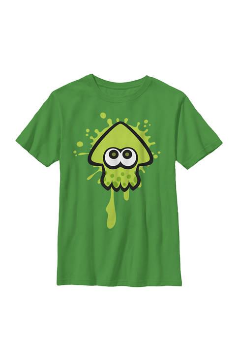 Splatoon Green Inkling Squid Splat Crew Graphic T-Shirt