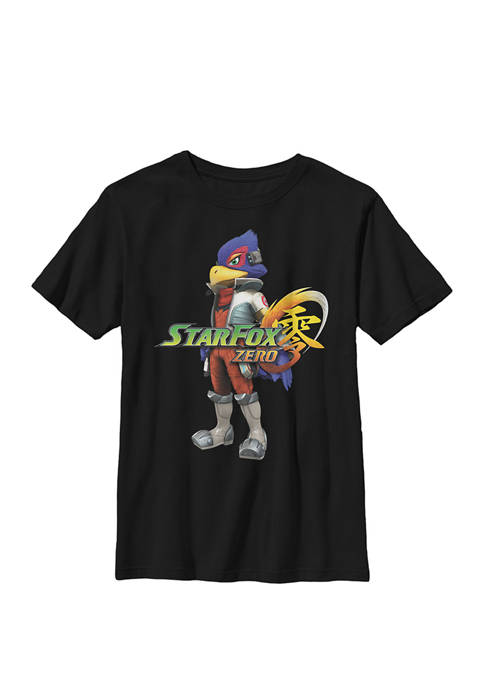 Nintendo Boys Star Fox Zero Falco Logo Crew