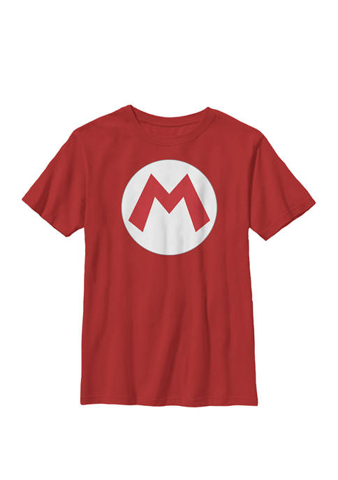 Super Mario Icon Costume Crew T-Shirt