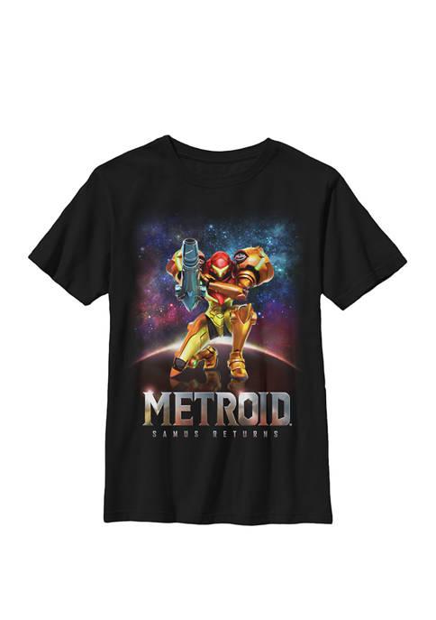 Nintendo Boys Metroid Samus Returns Portrait Crew T-Shirt