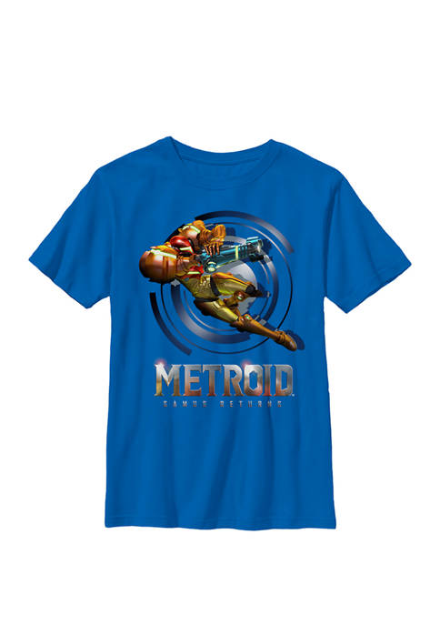 Nintendo Boys Metroid Samus Returns Jump Action Crew