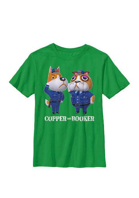 Animal Crossing Copper And Booker Simple Crew Graphic T-Shirt