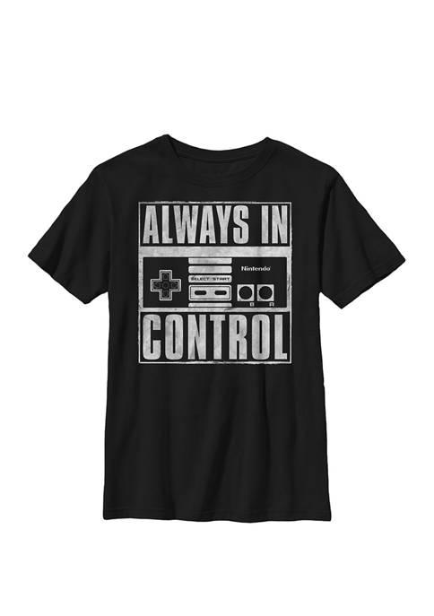Super Mario Always In Control Square Crew T-Shirt