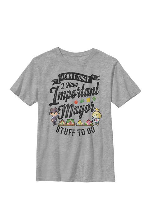 Nintendo Animal Crossing Important Mayor Stuff Crew T-Shirt
