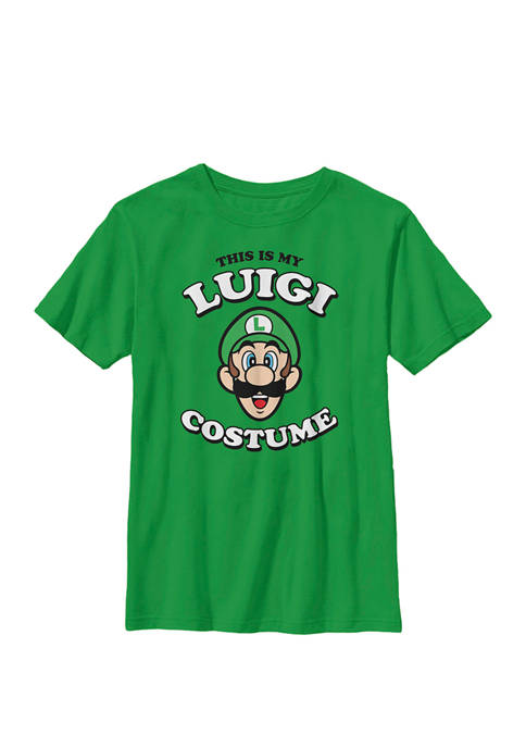 Nintendo Boys Super Mario My Luigi Costume Crew